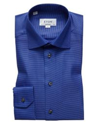 Eton of Sweden - Contemporary Fit Houndstooth Dress Shirt - Lyst