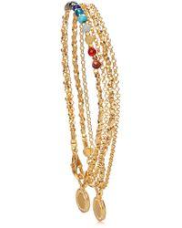 Astley Clarke - 18k Gold Rainbow Double Cosmos Stack Bracelet - Lyst