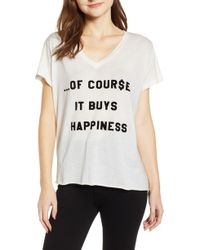 Wildfox - It Buys Happiness Tee - Lyst
