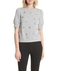 Kate Spade - Bee Embellished Sweatshirt - Lyst