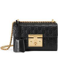 Gucci - Small Padlock Signature Leather Shoulder Bag - Lyst
