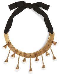 Valentino - Tassel Collar Necklace - Lyst