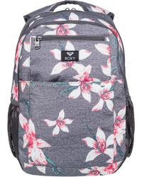 Roxy - Here You Are Women's Backpack In Grey - Lyst