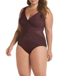 Miraclesuit - Miraclesuit Illusionist Crossover One-piece Swimsuit - Lyst
