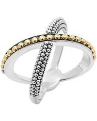 Lagos - 'enso' Caviar Crossover Ring - Lyst