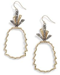 Alexis Bittar - Crystal Leaf Pineapple Earrings - Lyst