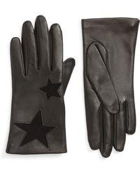 Nordstrom - Star Lambskin Leather Gloves - Lyst