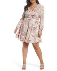 Glamorous - Floral Print Tie Waist Dress - Lyst