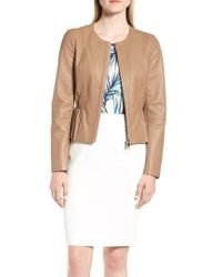 BOSS - Sahota Leather Jacket - Lyst