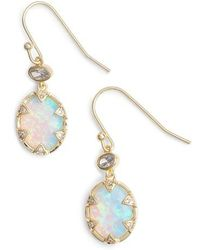 Melinda Maria | Alyssa Opal Drop Earrings | Lyst