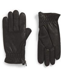 John Varvatos - Deerskin Leather Gloves - Lyst