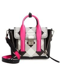 3.1 Phillip Lim - Mini Pashli Plaid Canvas & Leather Satchel - Lyst