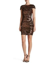 Dress the Population - Tabitha Sequin Body-con Dress - Lyst