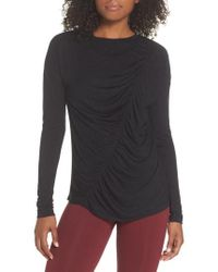 Zella - So Graceful Ruched Tee - Lyst