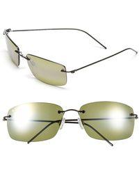 Maui Jim - 'frigate - Polarizedplus2' 65mm Polarized Sunglasses - Dark Gunmetal/ Maui Ht - Lyst