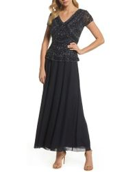 Pisarro Nights - Beaded V-neck Mock Two-piece Gown - Lyst