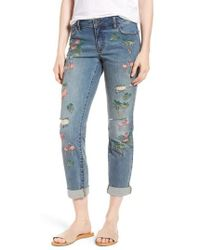 Billy T - Flamingo Embroidery Jeans - Lyst