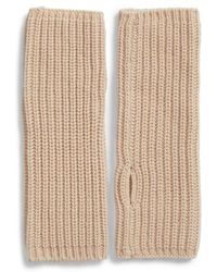 AllSaints - Half-cardigan Stitch Arm Warmers - Lyst