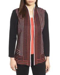Ming Wang - Stripe Knit Jacket - Lyst