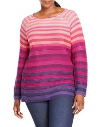 Foxcroft - Tilda Texture Stripe Sweater - Lyst