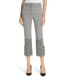 10 Crosby Derek Lam - Mixed Plaid Crop Flare Pants - Lyst