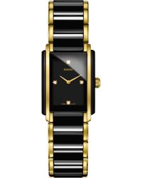 Rado - Integral Diamonds Tank Bracelet Watch - Lyst