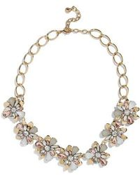 BaubleBar - Fiorella Crystal Flower Statement Necklace - Lyst