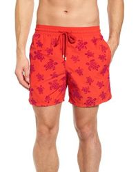 Vilebrequin - Flocked Turtles Swim Trunks - Lyst