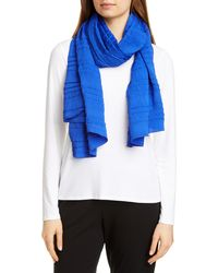 Eileen Fisher - Recycled Polyester Plissé Scarf - Lyst