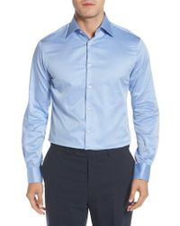 Ike Behar - Regular Fit Solid Dress Shirt - Lyst