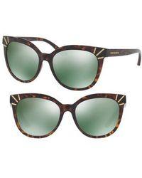 Tory Burch | 56mm Mirrored Cat Eye Sunglasses | Lyst