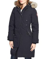 Canada Goose | Kensington Slim Fit Down Parka With Genuine Coyote Fur Trim | Lyst