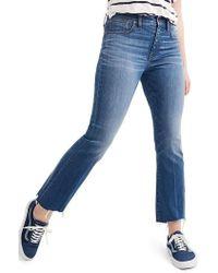 Madewell - Cali Demi Boot Jeans - Lyst