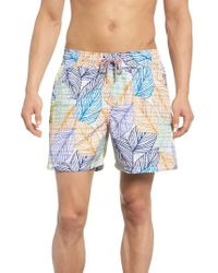 Maaji - Blue Sky Reversible Swim Trunks - Lyst
