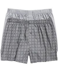 Hanro - 2-pack Fancy Woven Boxers, Grey - Lyst