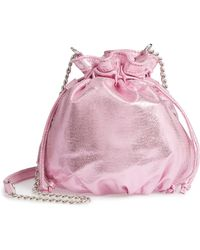 Chelsea28 - Phoebe Mini Metallic Bucket Bag - Lyst