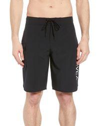 RVCA - 'eastern' Scalloped Hem Board Shorts - Lyst