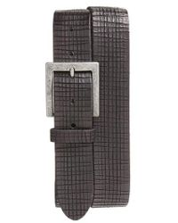 John Varvatos - Leather Belt - Lyst