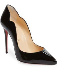 6da6d02fa1f Christian Louboutin Hot Chick 100 Patent Leather Pumps in Black - Lyst