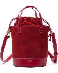 Frances Valentine - Large Leather & Suede Bucket Bag - Lyst