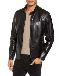 Schott Nyc - Cafe Racer Unlined Cowhide Leather Jacket - Lyst