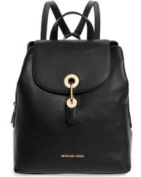 96ba20e77c24 Michael Kors Michael Signature Large Backpack in Black - Lyst