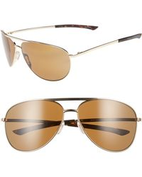 e21ad36122cf Smith - Serpico Slim 2.0 65mm Chromapoptm Polarized Aviator Sunglasses -  Lyst