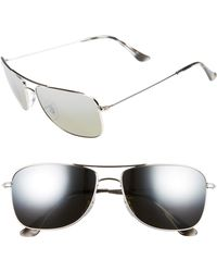 2a72c06827 Lyst - Ray-Ban 59mm Chromance Aviator Sunglasses - Shiny Silver grey ...
