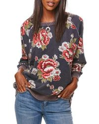 Free People - Go On Get Floral Sweatshirt - Lyst