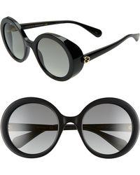 Gucci - 53mm Round Sunglasses - Lyst