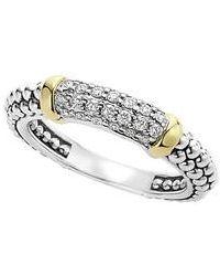 Lagos - 'caviar' Diamond Band Ring - Lyst