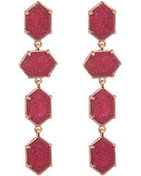 Panacea - Faux Druzy Stone Drop Earrings - Lyst