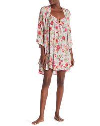 Kensie - Printed Belted Robe - Lyst