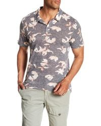Threads For Thought - Falling Lillies Polo Shirt - Lyst